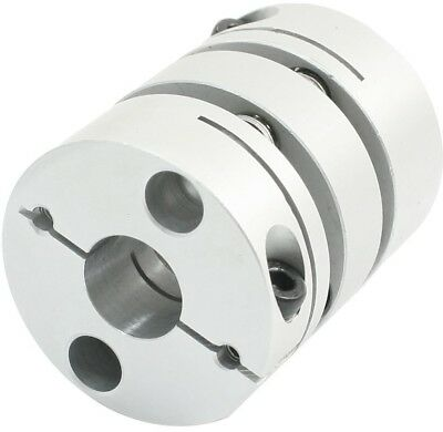 12mmx14mm Clamp Tight Motor Shaft 2 Diaphragm Connector Coupling Joint