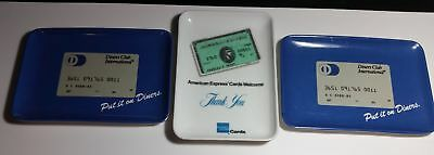 1980's Amex & Diners Club plastic restaurant credit card payment trays