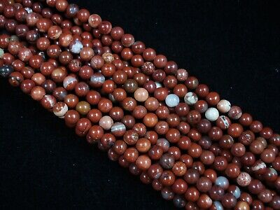 Gemstone Beads Red Jasper 4mm Round Beads 35cm Strand Semi Precious FREE POSTAGE