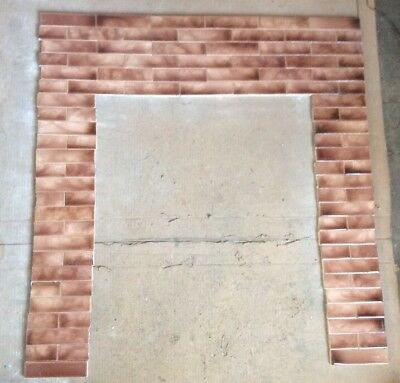 Complete Set Vintage Victorian Antique Fireplace Tile Mantle Surround Set Tiles