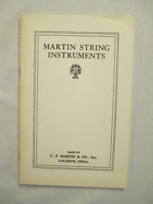 Martin String Instruments Catalog & Price List 1974 Reprint of 1924 Catalog