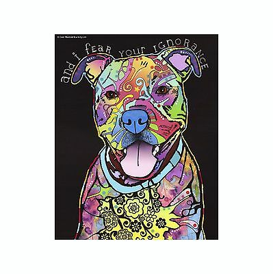 Pit Bull And I Fear Your Ignorance Dean Russo Vinyl Dog Car Decal Sticker