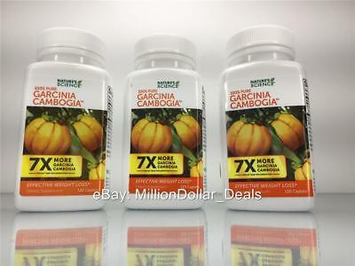 Nature's Science 100% Pure 7X More Garcinia Cambogia Weight Loss 360 Caplets 3PK
