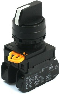 600V 10A 2NO 4 Screw Terminal 3Position Selector Locking Rotary Switch