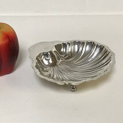 Large Sterling Footed Shell Form Nut Dish Bowl