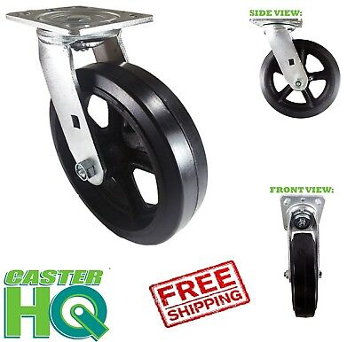 "CASTERHQ- 5"" X 2"" Swivel Mold On Rubber Caster Wheel - Industrial Application"