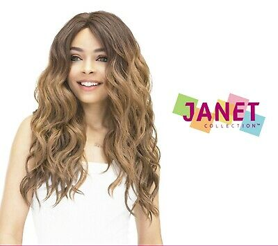 Janet Collection Natural Super Flow Deep Part Lace Front Wig - MOON
