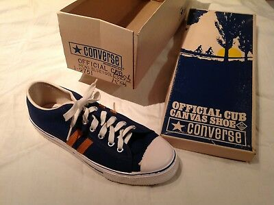 Rare CONVERSE OFFICIAL CUB SCOUT CANVAS SHOE Original BOX 50-60s Mens Vintage US