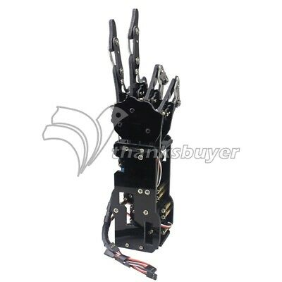 Right Hand Robot Mechanical Arm Claw Humanoid Five Fingers with Servos Assembled
