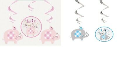Baby Shower Party 12ft Foil Banner Boy Girl Gender Reveal Decorations Banners