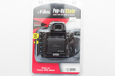 New Genuine Delkin Canon Eos Rebel 300D Lcd Screen Pop Up Screen Protector Shade