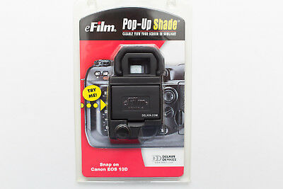 New Genuine Delkin Canon Eos 10D Lcd Screen Pop Up Screen Protector Sun Shade