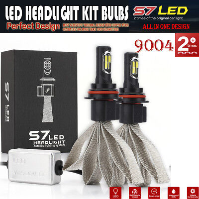 2X 9004 HB1 72W 8000LM LED COB Headlight Kit Bulb Lamp Hi-Lo Beam White Car Auto