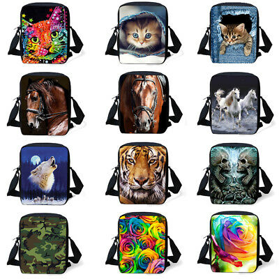 Cartoon Animal Printed Reusable Eco Shopping Bags Foldable Nylon Shopping Tote