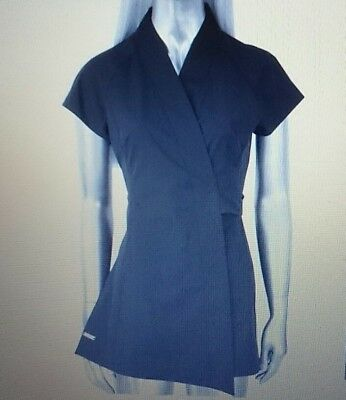 Blackpants Workwear Tokyo Tunic Wrap Black - NEW - sizes 6 to16 avail