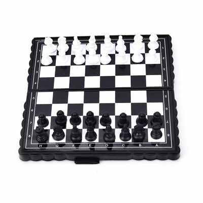 32 Pieces Travel Magnetic Chess Set Mini Portable Folding Chess Board For kids Y