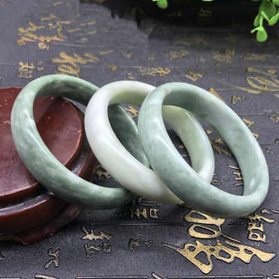 1pc Chinese Beautiful Genuine Natural Green Jade Gems Bangle Bracelet 52-64mm