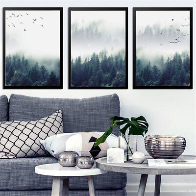 Modern Forest Landscape Art Print Canvas Painting Poster Home Decor Unframed New