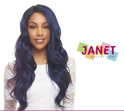 ASTIN - Human Hair Blend Lace Front Wig - Long Straight Style - Janet Collection