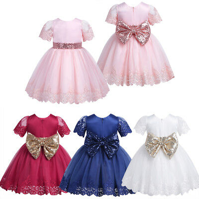 Kid Baby Flower Girls Princess Tutu Dress Communion Pageant Formal Party Dresses