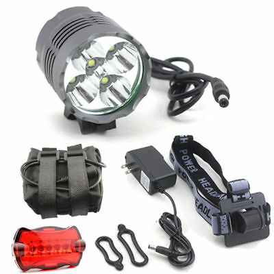 13000LM CREE 5xT6 LED Bicycle Bike Light Headlamp light Torch +8x18650 +Charger