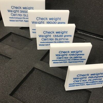 Checkweigher Test Piece - Check Weight - Precision - Most Weights Available FDA