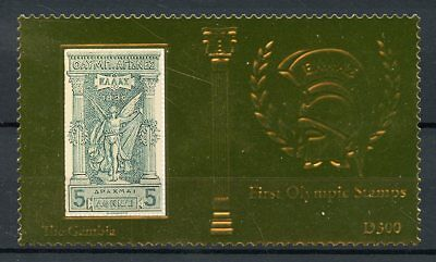 Gambia 2012 MNH First Olympics Athens Greece 1v Gold Stamp Olympic Games Stamps