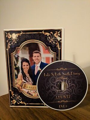 Custom made Wedding DVD/CD Single Case and printed disc (incl. disc)