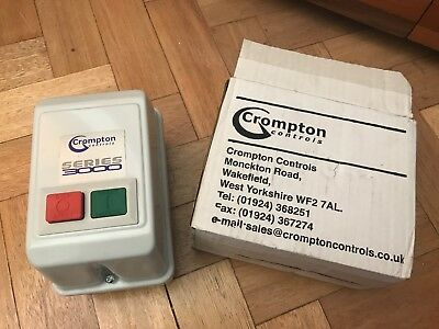 Crompton Controls Series 3000 TYPE 3DL1EZS 5.5kW 12A 415V DOL Starter IP55