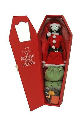 "Nightmare Before Christmas SANTA SALLY Doll In COFFIN BOX NBX 14"" Figure DISNEY"