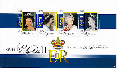 Gambia 2013 MNH Queen Elizabeth II Coronation 60th Anniv 4v M/S I Royalty Stamps