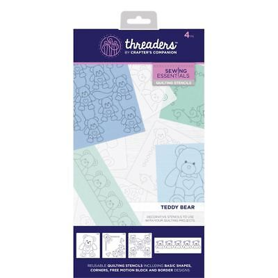 Crafter's Companion Threaders Quilting Template Stencil - Teddy Bear
