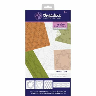 Crafter's Companion Threaders Quilting Template Stencil - Medallion