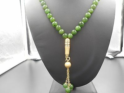 Vintage Jade and 18K Solid Gold Lavalier Necklace, with Appraisal!