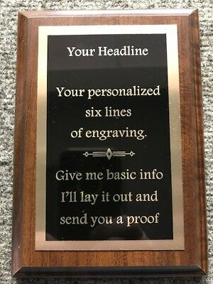 "6""X 8"" Employee of the Month/Safety/Sports or Custom Plaque Award-FREE Engraving"
