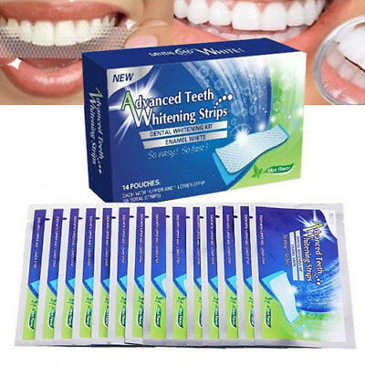 Sbiancante  Per Denti Advanced Teeth Whitening Strips 28 Strips   Professionale