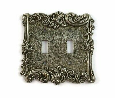 Cast Metal Double Light Switch Plate Cover American Tack & Hardware Vintage