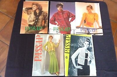 Passap  lot de 5 Magazines N°6-19-44-45-46