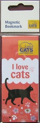 Cats Protection Magnetic Bookmark I Love Cats - charity item