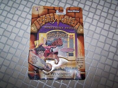 View Master HARRY POTTER 3D WINDOWS 5 card pack SORCEROR'S STONE SERIES 1