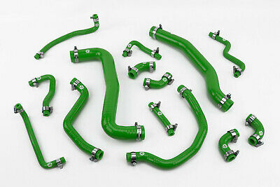 Stoney Racing Toyota Celica GT4 ST205 Silicone Coolant Radiator Hose Kit Green