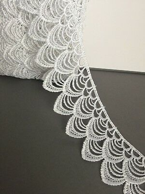 Lace trim,BRIDAL,WEDDING,WHITE Guipure, Embroidered 5.5 cm/2.1 inch,Free P&P