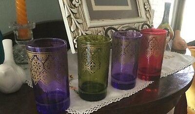 Set Of Four Moroccan Style Glasses