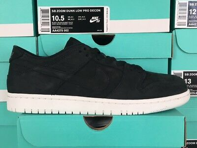 73246b05270ba Nike SB Dunk Low Decon Deconstructed AA4275-002 Black Summit White Size 6