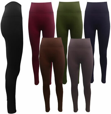 Slimming High Waisted Fitness Control Leggings Strong Firm Tummy Support Pants