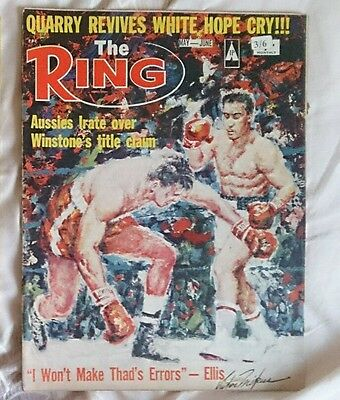 The Ring Boxing Magazine May June 1968 Aussies irate over Winstone title claim