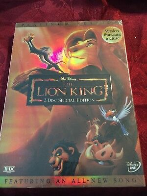 The Lion King Platinum Edition 2 Disc Set New
