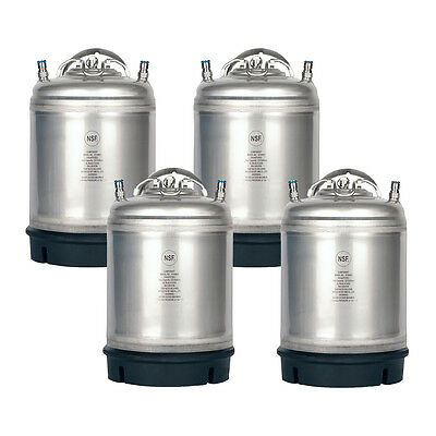 4 Pack New 2.5 Gallon Ball Lock Kegs AMCYL - Homebrew Beer Soda - Free Shipping!