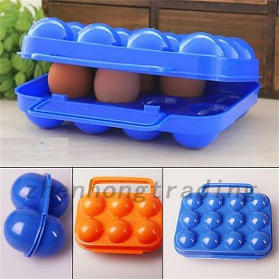 Camping Hiking Portable Carry 12 Egg Folding Box Case Container Storage Holder