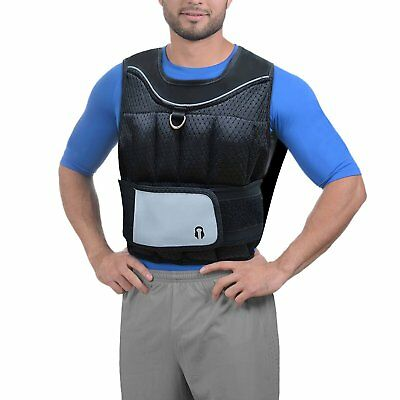 Weighted Vest Weight Loss Training Running Adjustable Jacket Fitness Gym 10kg